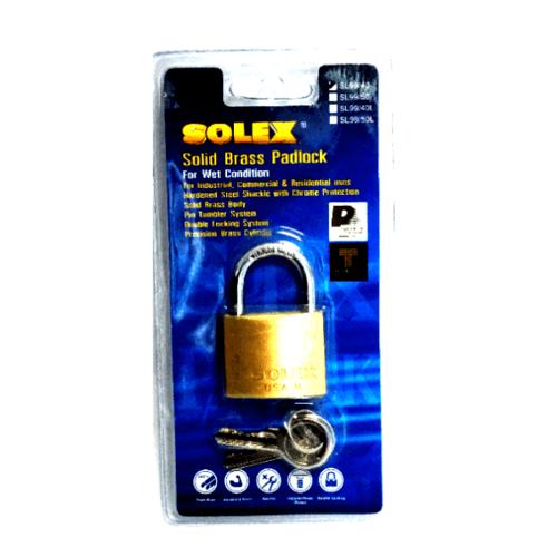 SOLEX กุญแจสปริง SL99 ขนาด40MM.(แผง) สีโครเมี่ยม