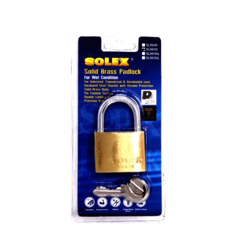 SOLEX กุญแจสปริงSL99  ขนาด 50MM.(แผง) สีทอง