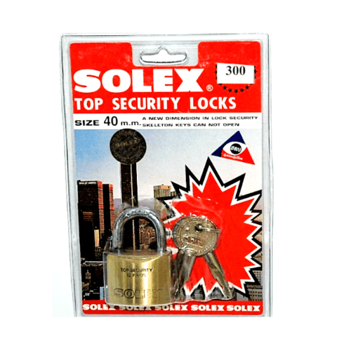 SOLEX กุญแจคล้อง  40 มม. สีเหลือง