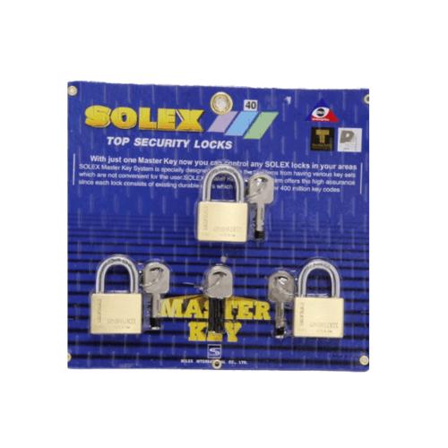 SOLEX กุญแจคล้อง ขนาด 40 มม. MTK 3:1 PLUS  สีทอง