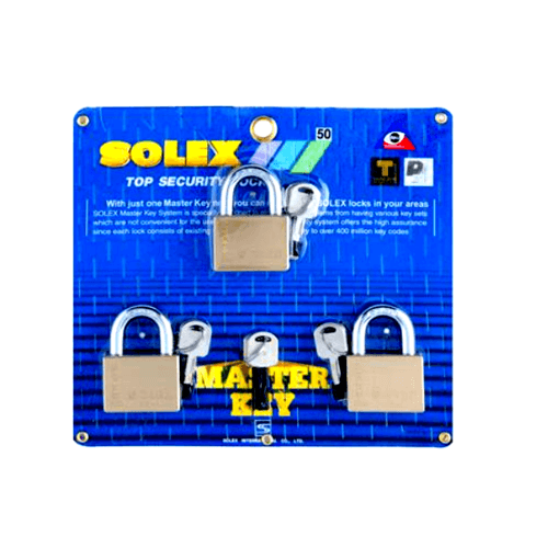 SOLEX กุญแจคล้อง MTK3:1 ขนาด 50MM. PIUS สีทอง