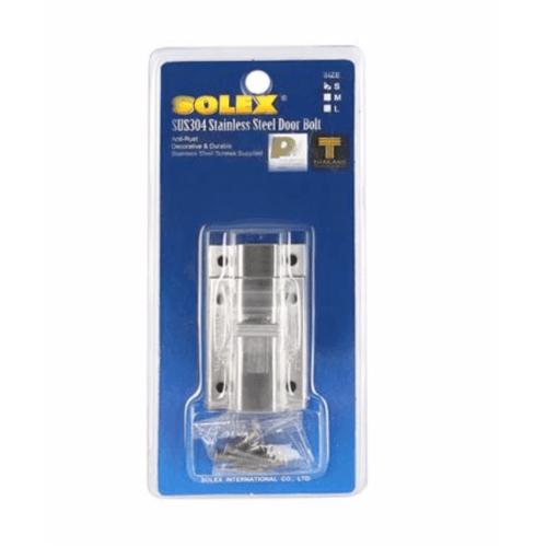 SOLEX กลอนสแตนเลสห้องน้ำขนาดเล็ก S