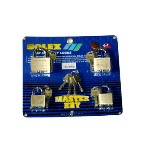 SOLEX กุญแจคล้อง  MTK4:1  ขนาด 40MM.PIUS สีทอง