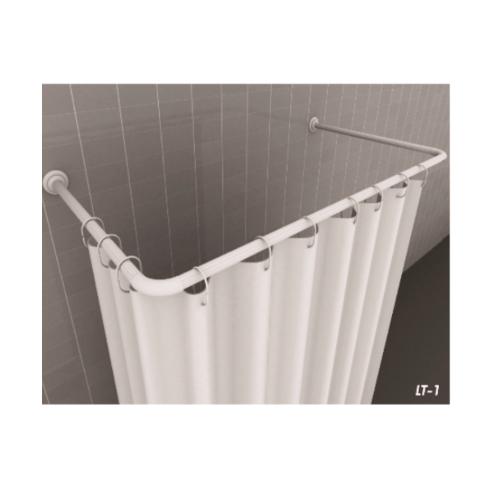 WSP ราวแขวนผ้าม่านแบบโค้ง(80x80x80cm) LT-1 สีขาว