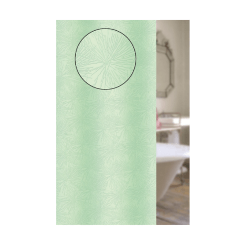 WSP ม่านห้องน้ำ PVC  180x180cm.  SCB1-B2 สีเขียว