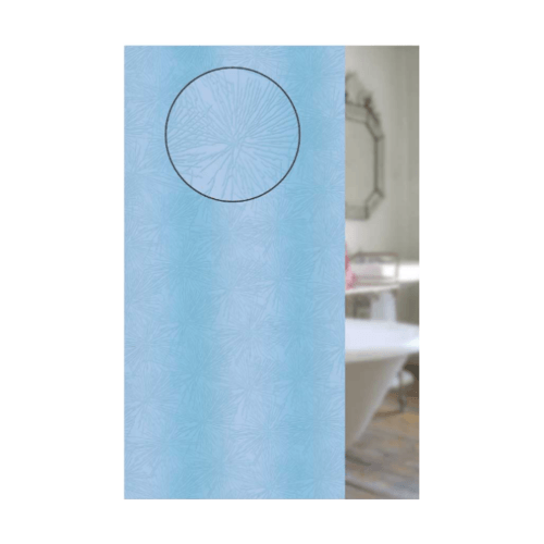 WSP ม่านห้องน้ำ PVC 180x180 ซม. SCB-1/B-1 สีฟ้า