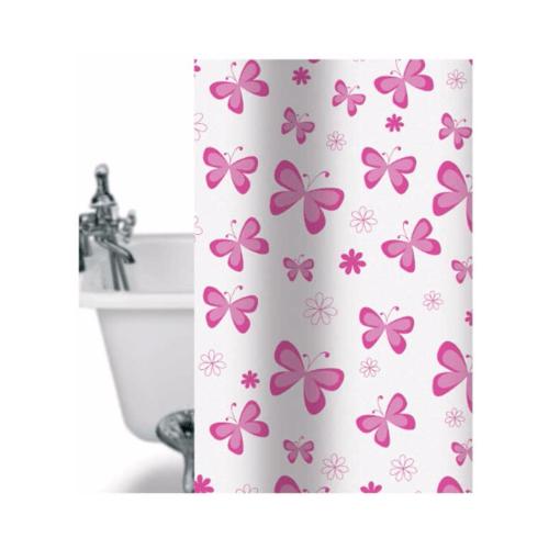 WSP ม่านห้องน้ำ 180x180 ซม. SCP-1/C4059 สีชมพู