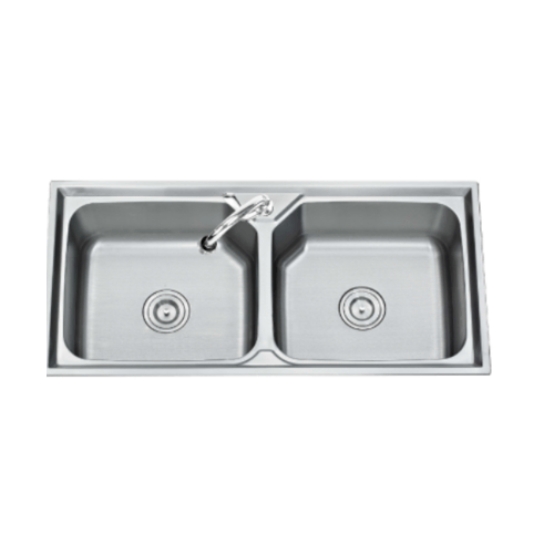 TECNOGAS อ่างล้างจาน 2 หลุม Sink TNS 201000 SS สเตนเลส