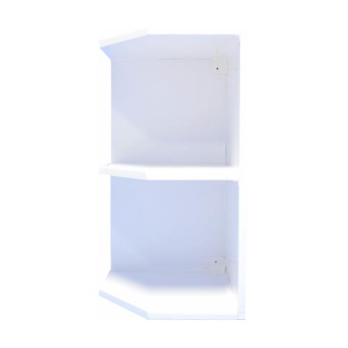 REINIGER ชั้นเข้ามุมซ้าย(UV)WL35/ขาว WL35 ขาว