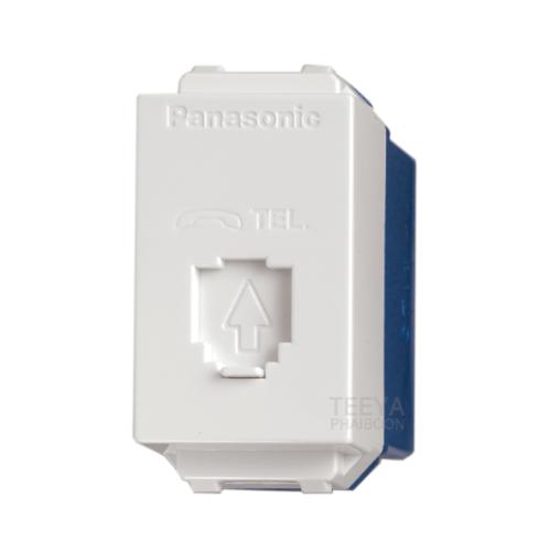 PANASONIC เต้ารับโทรศัพท์ 6P 4C/6P 6C WEG2164 สีขาว