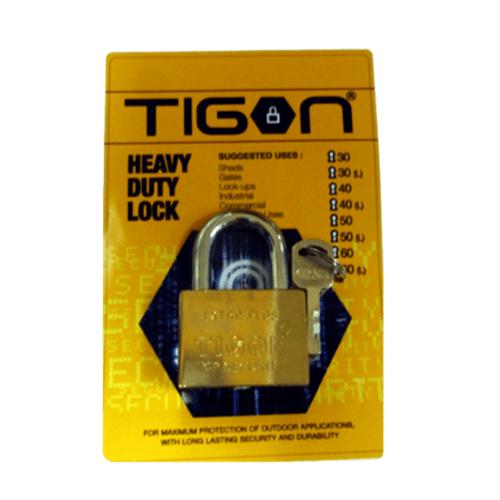 TIGON กุญแจชุบทอง ขนาด 40 มม. คอสั้น -