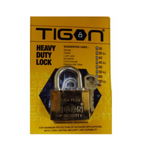 TIGON กุญแจชุบทอง ขนาด 60 มม.คอสั้น -  สีทอง