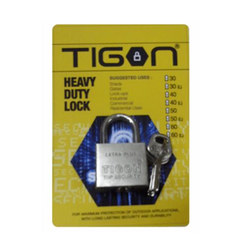 TIGON กุญแจชุบเงิน ขนาด 30 มม.  คอสั้น
