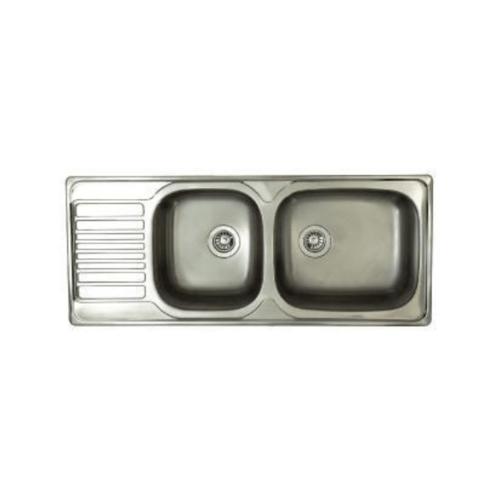 ELBA อ่างล้างจาน(แถมก๊อก) XXL9.ST สีโครเมี่ยม