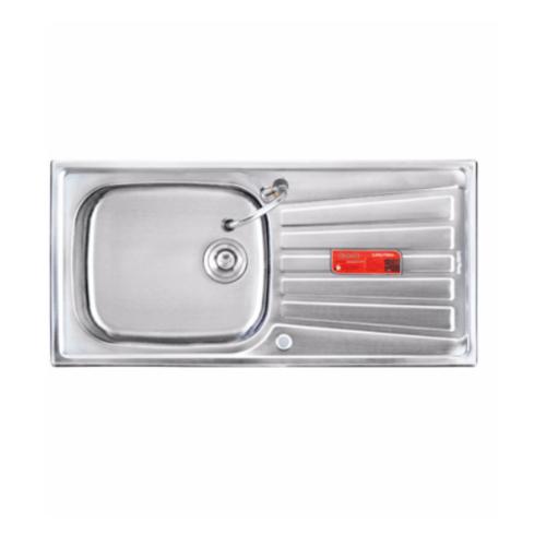 Lucky Flame อ่างล้างจาน 1 หลุมมีที่พัก 100x50x16 ซม. BIS-1056