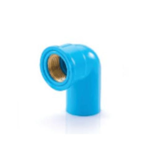 SCG ข้องอ90 เกลียวในทองเหลือง หนา 3/4นิ้ว(20) สีฟ้า