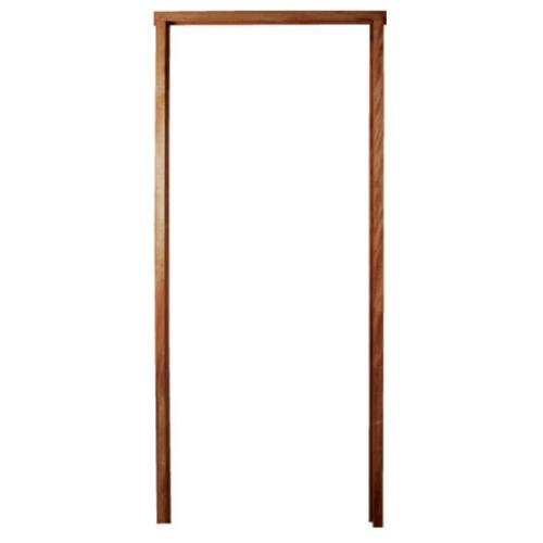 BEST วงกบประตูไม้เนื้อแข็งพร้อมชุดรางเลื่อน  ขนาด 200x200 ซม.