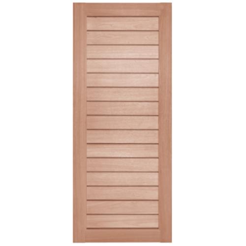 BEST ประตูไม้สยาแดง  ขนาด 80x200 cm. GS-52S