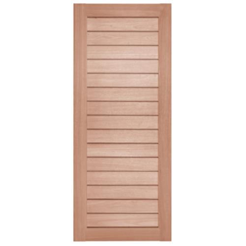 BEST ประตูไม้สยาแดง  ขนาด150x200 cm. GS-52 Plus
