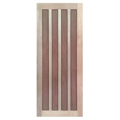 BEST ประตูไม้สยาแดง ขนาด 90x200 cm.(ทำสี) GS-39