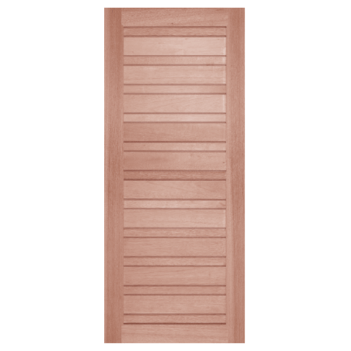 BEST ประตูไม้สยาแดง ขนาด 90x204 cm. GS-53