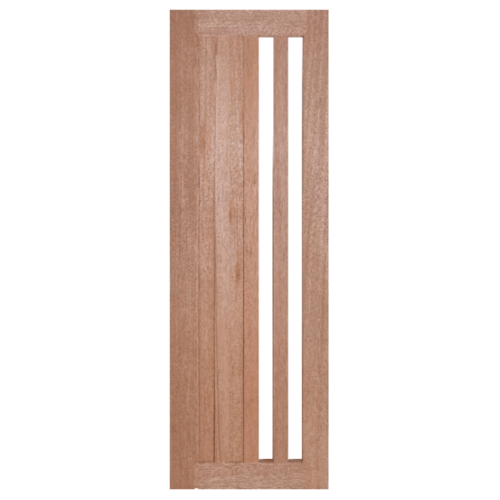BEST ประตูไม้สยาแดง กระจกใส ขนาด45x200cm. (ทำสี) สพ. GS-47
