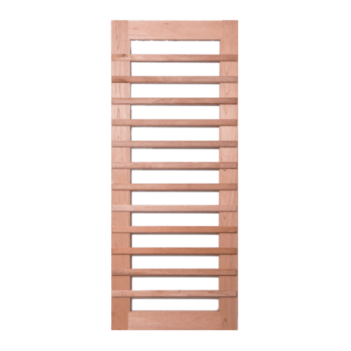 BEST  ประตูไม้สยาแดง ทำช่องพร้อมกระจก  55x200ซม.. GS-59