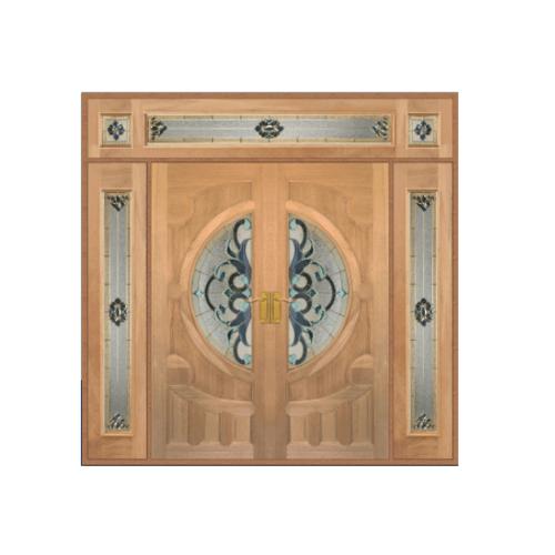 Masterdoors ประตูกระจกสยาแดง ขนาด 240x245 cm.  Vanda-03 ธรรมชาติ