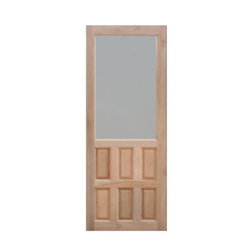 MAZTERDOOR ประตูกระจกไม้สยาแดง ขนาด   80X200 cm. MD 4/1
