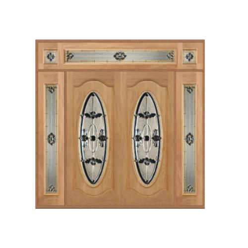 Masterdoors ชุดประตูไม้จาปาร์การ์ ขนาด  240x245 cm. ORCHID-07 ธรรมชาติ