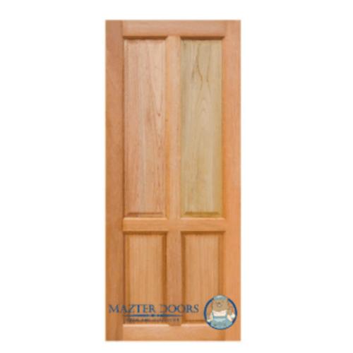 MAZTERDOOR ประตูไม้สยาแดง 4ฟัก ขนาด 80x200ซม.  SK-07