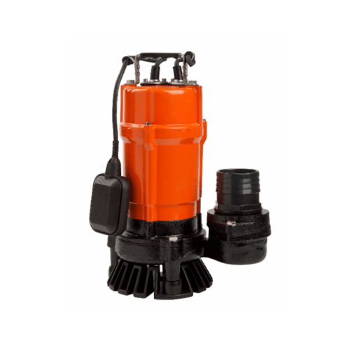 SUMOTO POMPA ปั๊มจุ่มน้ำเสีย 750W.พร้อมลูกลอย DIRT750F สีส้ม