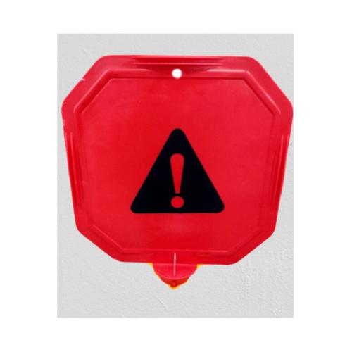 Protx ป้ายเตือนหัวเสา งดใช้บริการ   PQS-RS66x สีแดง