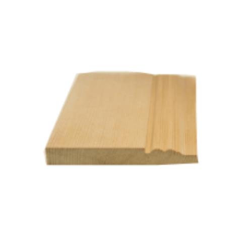 MAZTERDOOR บัวพื้น-ไม้สัก(พื้น 2 ตุ่ม)  ขนาด 5/8นิ้ว x4นิ้ว x6.5 ฟุต  M.1406