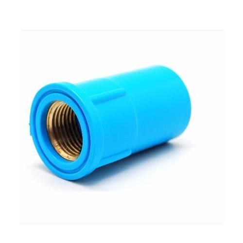 VAVO ข้อต่อตรง เกลียวในทองเหลือง  ขนาด 1/2นิ้ว (18)  สีฟ้า