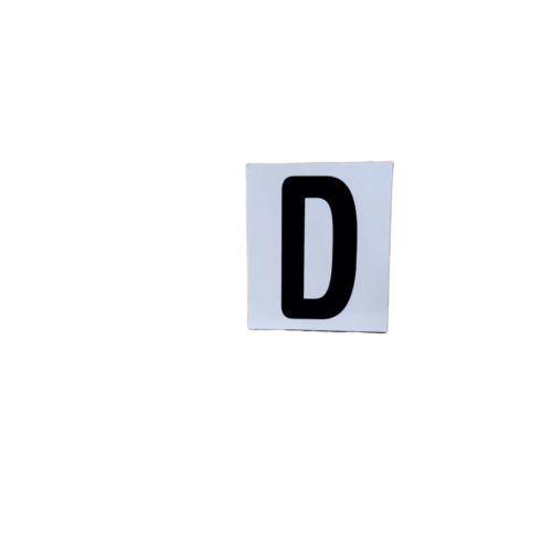 CITY ป้ายPP (ตัวอักษร D) ขนาด 4.7x5.5 ซม. SGB1105-04 สีดำ
