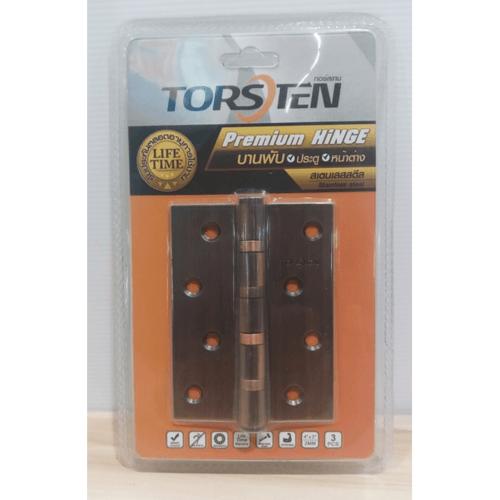 TORSTEN บานพับสเตนเลส4x3x2mm 3ชิ้น สีทองแดงโบราณ -