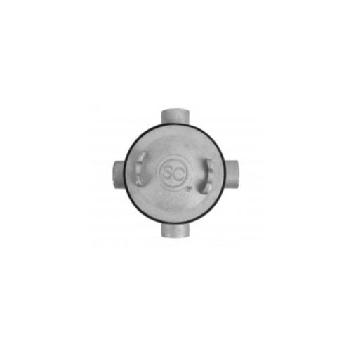 VAVO บล็อกกลมกันน้ำ 4 ทาง 1/2 inch สีโครเมี่ยม