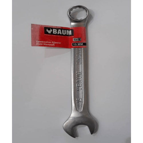 BAUM ประแจแหวนข้างปากตาย Art-33 15 mm. สีโครเมี่ยม