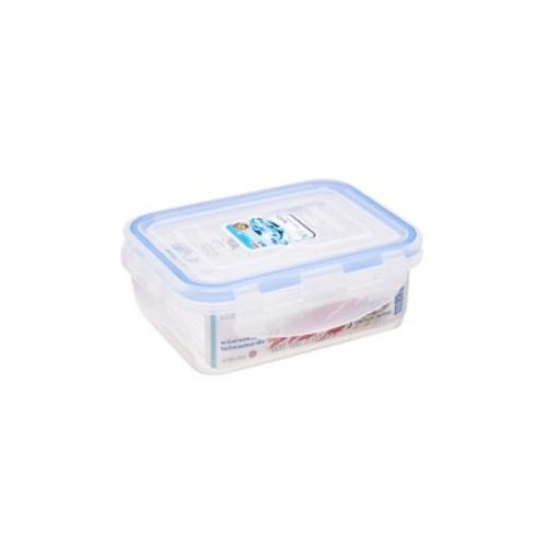 USUPSO ชุดกล่องอาหารพลาสติกทรงสี่เหลี่ยม 680ML ขนาด 15x15x5 ซม. 3 ชิ้น/แพ็ค E3047A  สีฟ้า