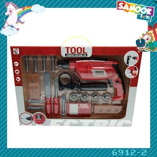 Sanook&Toys ชุดของเล่นปืนสว่านไฟฟ้าและอุปกรณ์ #6912-2 (44x30x7ซม.)