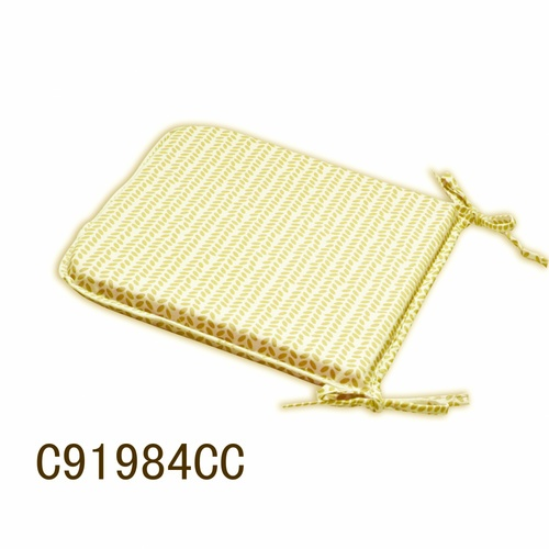 COZY เบาะรองนั่งสี่เหลี่ยม ขนาด 40×40×2ซม. สีเหลือง