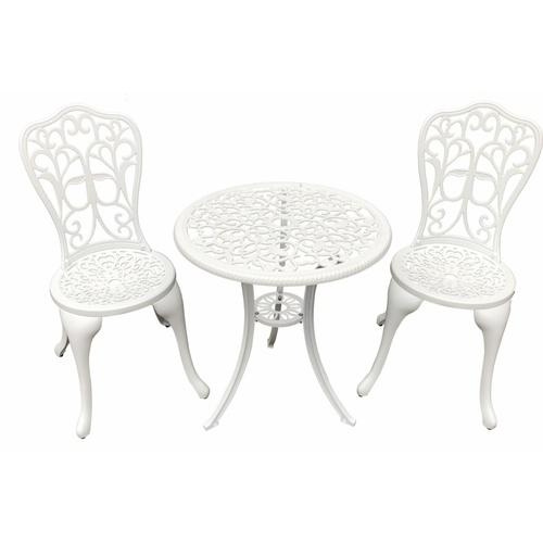 Tree O ชุดโต๊ะสนาม 2 ที่นั่ง  XG1020 สีขาว