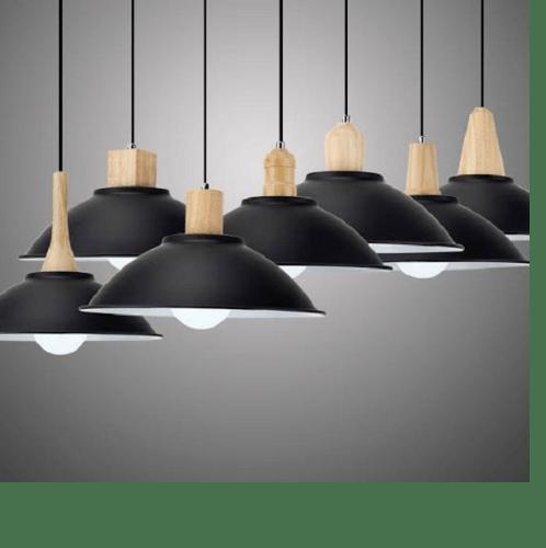 EILON โคมไฟแขวน  Modern KSX015 สีดำ