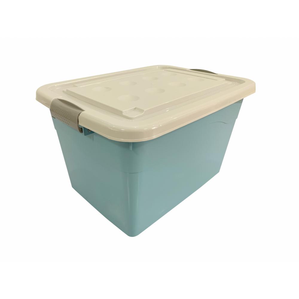GOME กล่องพลาสติกมีล้อ 250 ลิตร ขนาด 47.5x80x59ซม.  2BEZ049-BL สีฟ้า