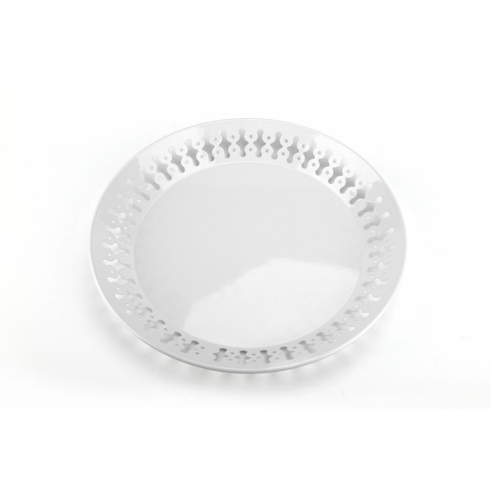 Nibiru ถาดเสิร์ฟทรงกลม ขนาด 33.5x3.5 ซม. TADLEK สีขาว