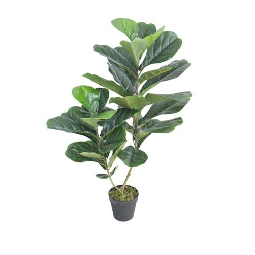 Tree O ต้นไทรใบสักประดิษฐ์สูง 90 ซม. 34LVS พร้อมกระถาง JWS2924 สีเขียว