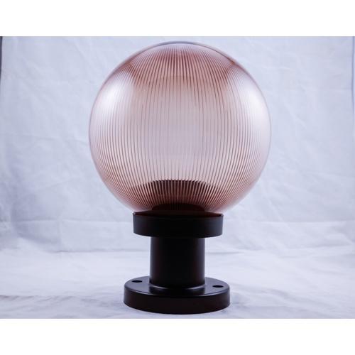 EILON โคมไฟหัวเสาทรงกลม ขนาด 10 นิ้ว  TVZT130-10 สีชา