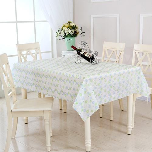 Nibiru ผ้าปูโต๊ะ EVA 137x180ซม. ลายดอกไม้สีฟ้าเขียว  DAISY02 คละสี